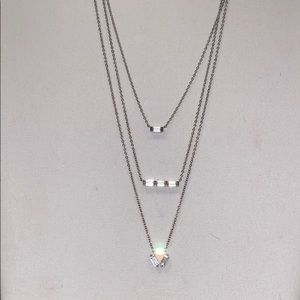Nordstrom Sterling Silver CZ Necklace Bundle- NWOT